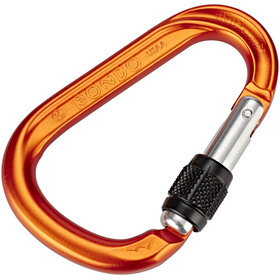 AustriAlpin HMS Rondo Screwgate Carabiner orange anodized